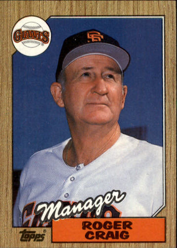 Photo of 1987 Topps #193 Roger Craig MG