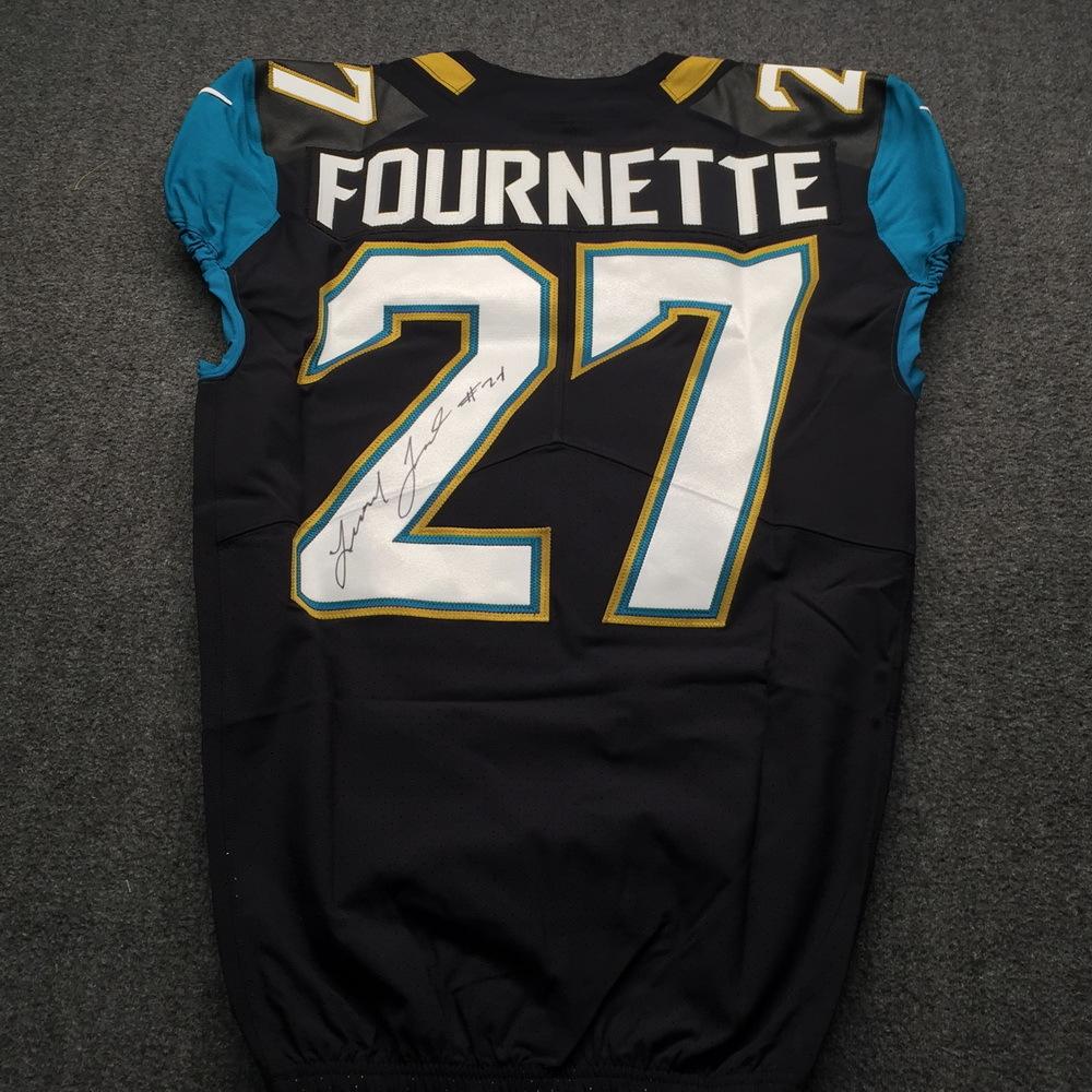 NFL Auction   Jaguars - Leonard Fournette Signed Authentic Jersey ...