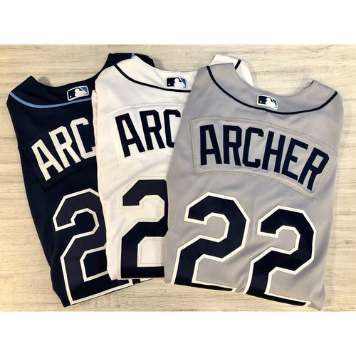Photo of Team Issued Jersey Package (3): Chris Archer