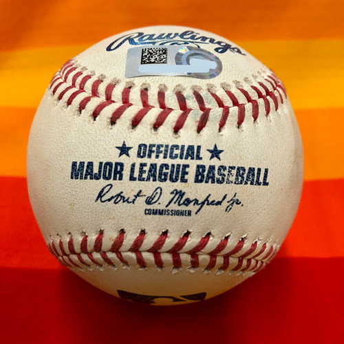 Game-Used Baseball 7/25/20 Astros Vs. Mariners: McCullers to Vogelbach (Two Pitches)