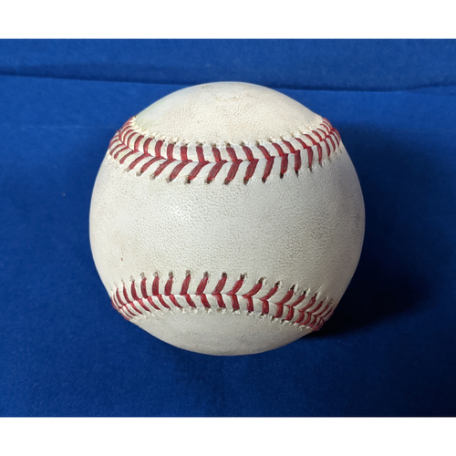 Photo of 2020 Game Used Baseball: Pitcher: Julio Urias, Batters: Wilmer Flores (Strikeout), Darin Ruf (RBI Single) - Top 3 - 7-26-2020 vs. SF