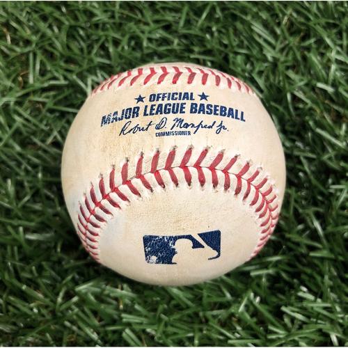 Photo of Rays Baseball Foundation: Game Used Home Run Baseball - Teoscar Hernandez - August 21, 2020 v TOR