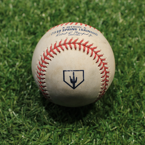 Photo of Game-Used Baseball: Featherstone - Foul (KC @ OMA 3/25/19)