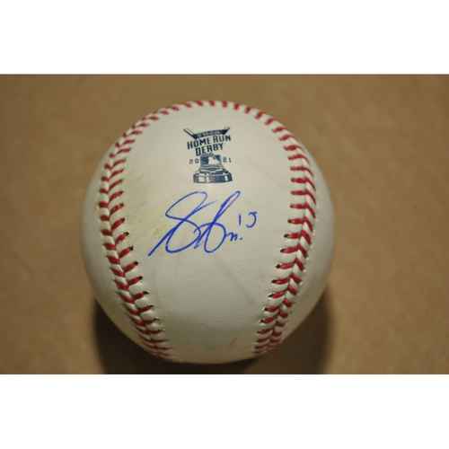 Photo of MLB Players Youth Development Foundation: 2021 T-Mobile Home Run Derby Used & Autographed Baseball - Joey Gallo, Round 1 Out