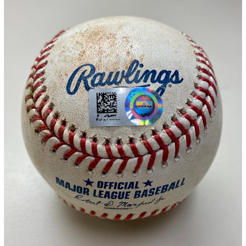 Photo of Game-Used Baseball: Juan Lagares LA Angels Double (MLB AUTHENTICATED)
