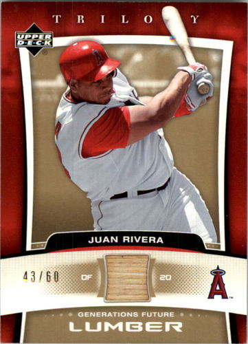 Photo of 2005 Upper Deck Trilogy Generations Future Lumber Gold #RI Juan Rivera