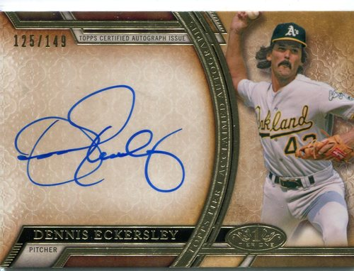 Photo of 2015 Topps Tier One Acclaimed Autograph Dennis Eckersley 125/149 -- Hall of Famer