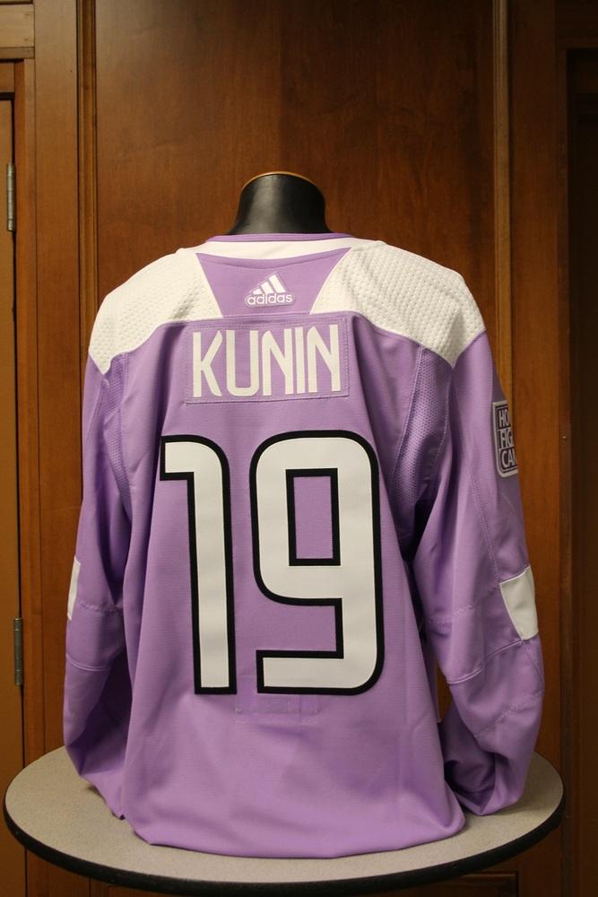 Luke Kunin Minnesota Wild 2017 Hockey Fights Cancer Night Warm-Up Jersey (Size 56)