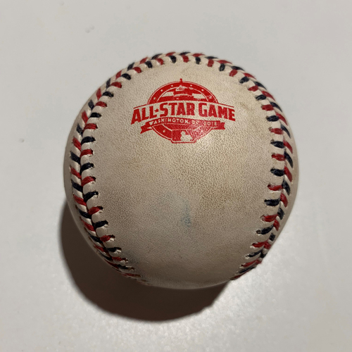 Photo of 2018 All Star Game - Game Used Baseball - Batter: Salvador Perez Pitcher: Aaron Nola - Strikeout