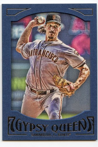 Photo of 2016 Topps Gypsy Queen Framed Blue #52 Jeff Samardzija