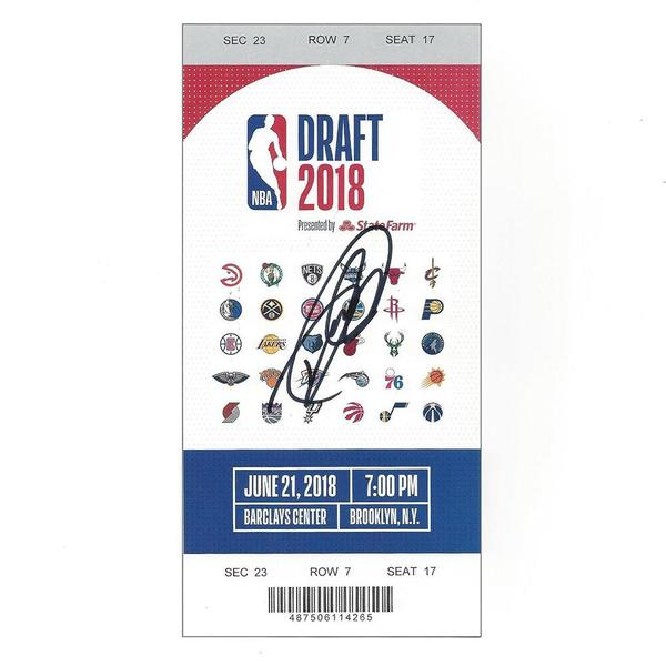 Image of Devonte' Graham - Charlotte Hornets - 2018 NBA Draft - Autographed Draft Ticket