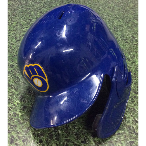 Photo of Manny Pina 2019 Game-Used Batting Helmet