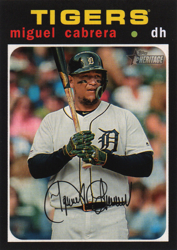 Photo of 2020 Topps Heritage #41 Miguel Cabrera