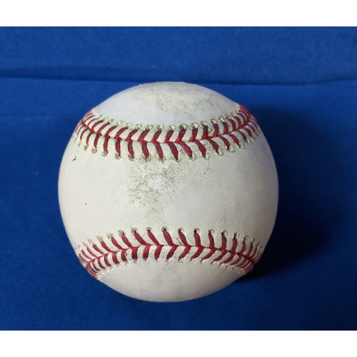 Photo of 2020 Game Used Baseball: Pitcher: Adam Kolarek, Batter: Mauricio Dubon - RBI Single - Top 6 - 7-26-2020 vs. SF