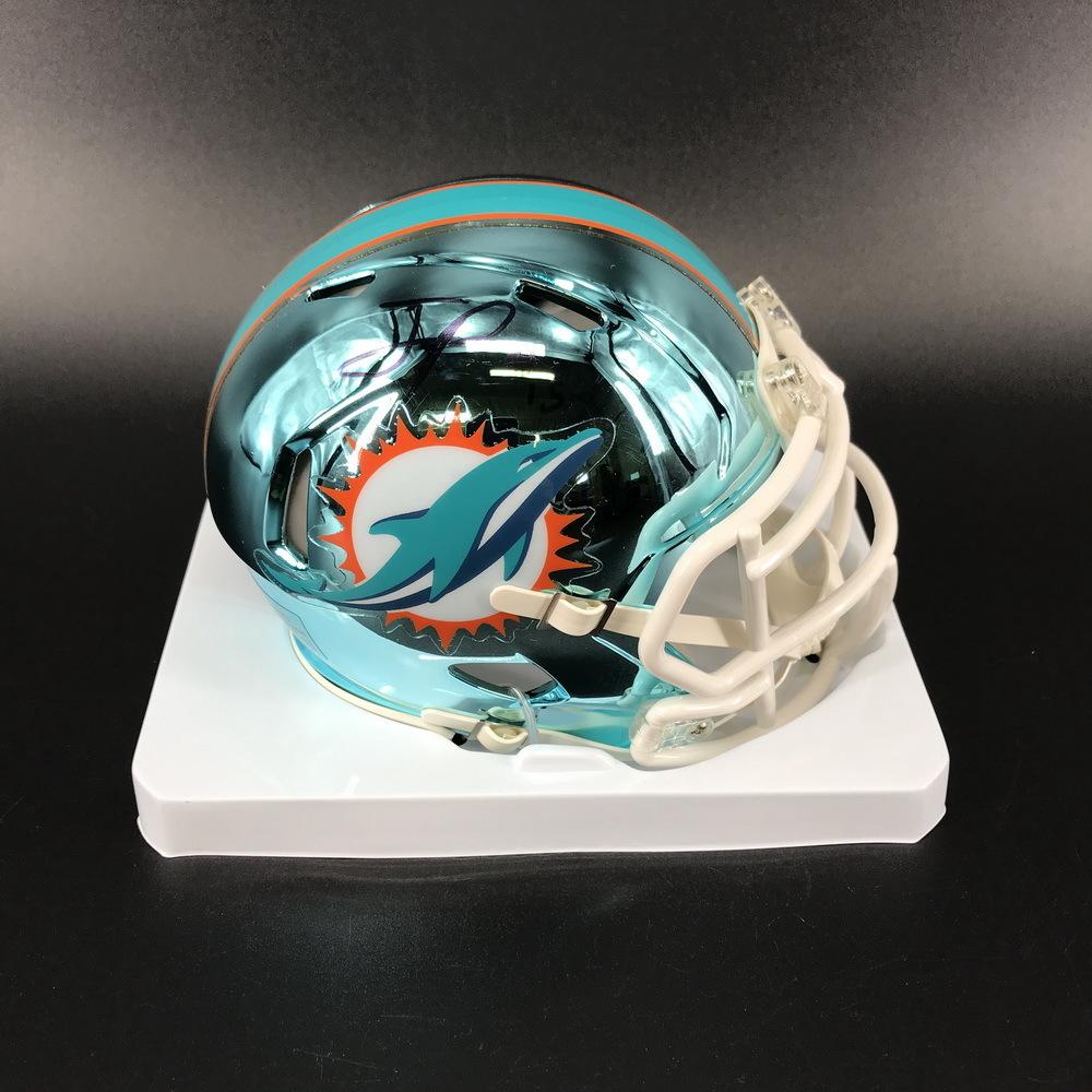 NFL - Dolphins Jaylen Phillips Signed Chrome Mini Helmet