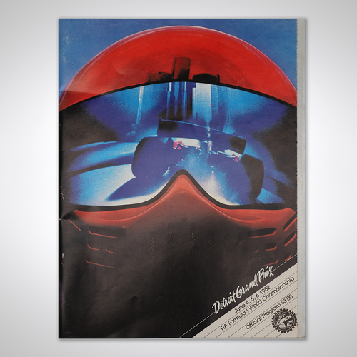 Photo of John Watson 1982 Signed Detroit GP Programme