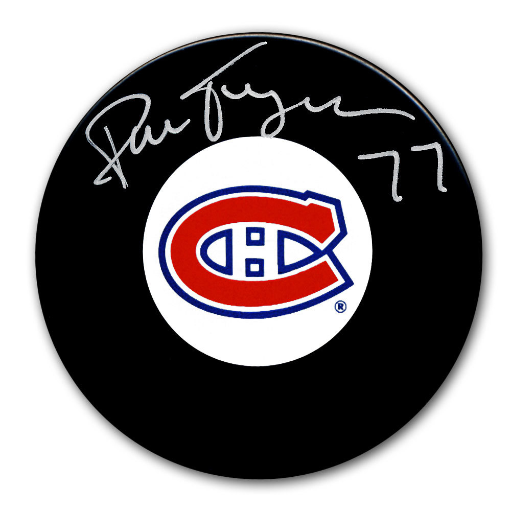 Pierre Turgeon Montreal Canadiens Autographed Puck