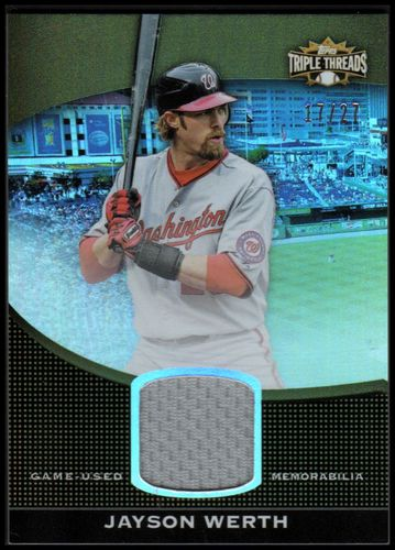 Photo of 2011 Topps Triple Threads Unity Relics Sepia #USR255 Jayson Werth