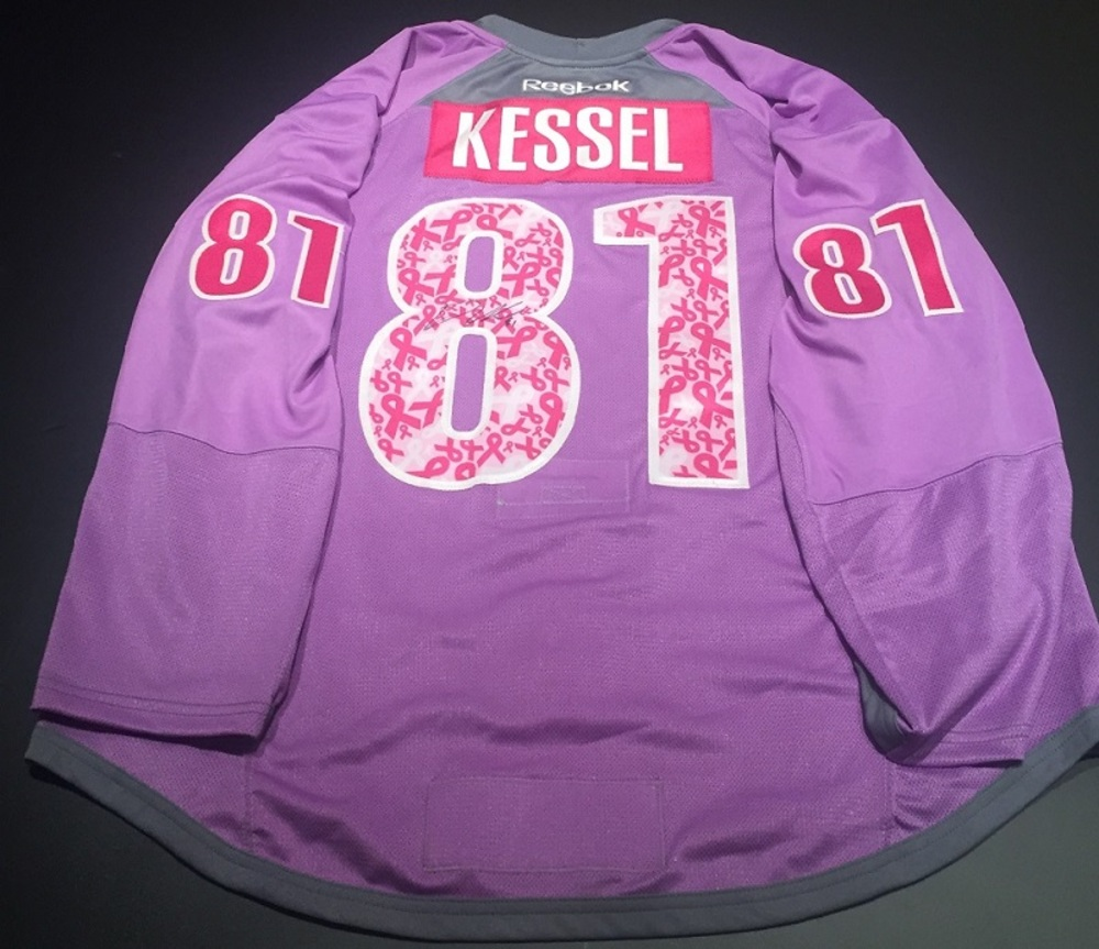 wholesale dealer f7250 8d4f3 Phil Kessel Pittsburgh Penguins Purple Hockey Fights Cancer ...