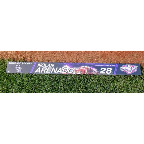 Colorado Rockies Nolan Arenado Authenticated Opening Day Locker Tag