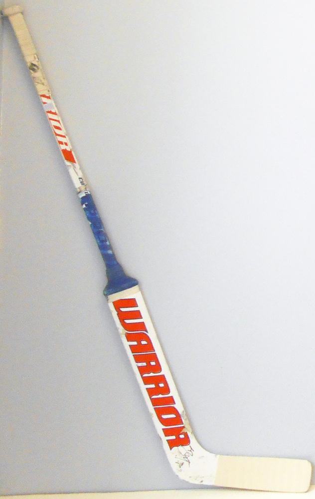 #1 LaurentBrossoit Game Used Stick - Autographed - Edmonton Oilers