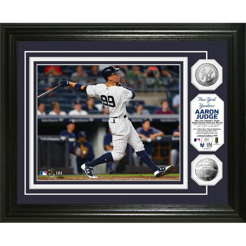 Photo of Aaron Judge Home Run Record Silver Coin Photo Mint