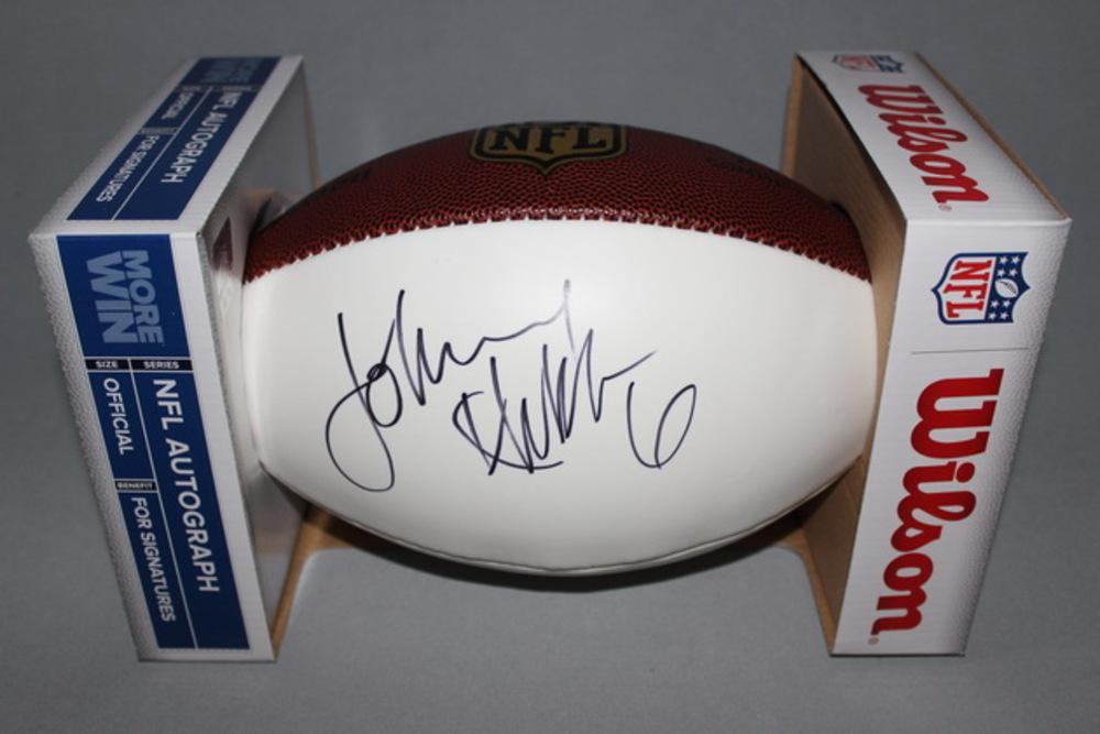 NFL - RAMS JOHNNY HEKKER SIGNED PANEL BALL