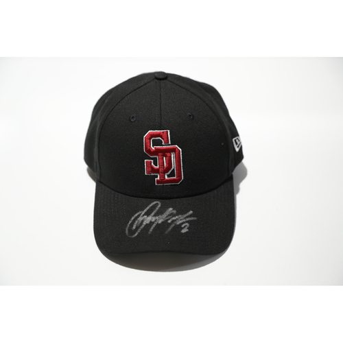Photo of Jose Pirela Autographed, Game-Worn Stoneman Douglas Eagles Cap - Not MLB Authenticated