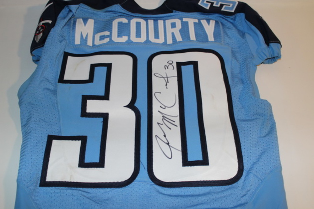 quality design ce487 a582a NFL Auction | BCA - TITANS JASON MCCOURTY GAME WORN AND ...