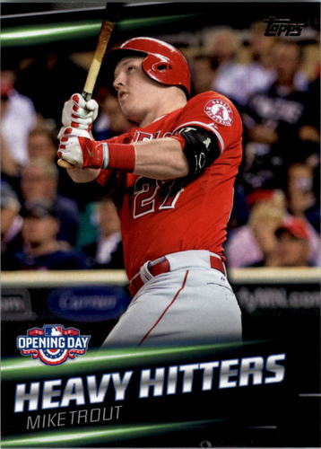 Photo of 2016 Topps Opening Day Heavy Hitters #HH10 Mike Trout