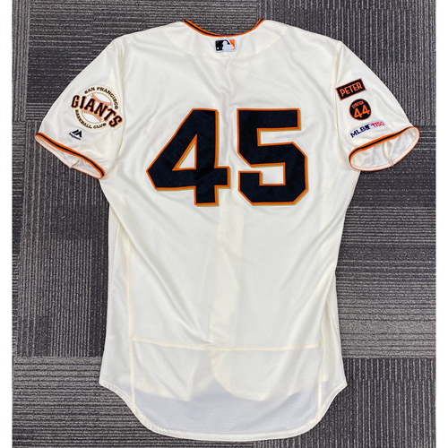 2019 Game Used Home Jersey worn by #45 Kyle Barraclough on 9/29 vs. LAD - Size 48
