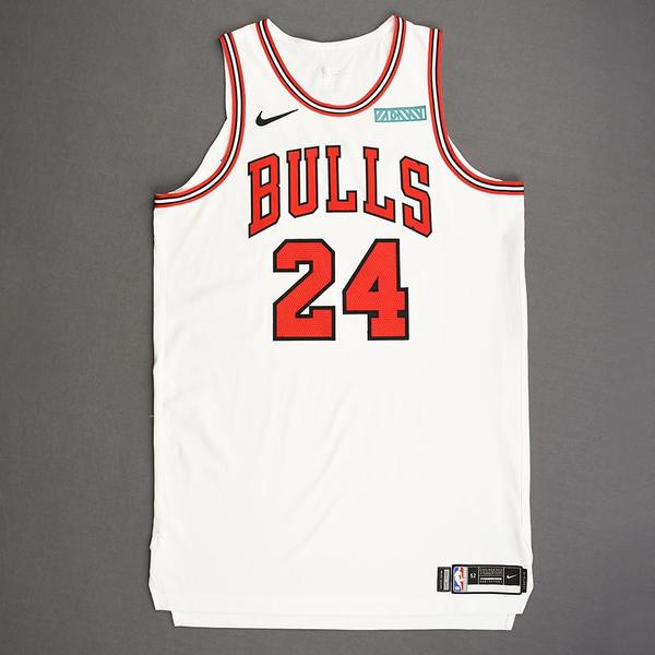 Image of Lauri Markkanen - Chicago Bulls - Kia NBA Tip-Off 2019 - Game-Worn Association Edition Jersey - Double-Double - Game-High 35 Points Scored