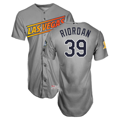 Photo of Fran Riordan #39 Las Vegas Aviators 2019 Road Jersey