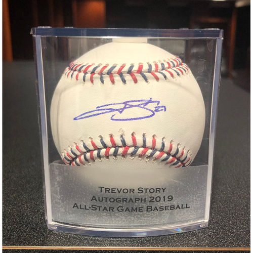 Photo of Colorado Rockies Autographed 2019 All-Star Baseball: Trevor Story