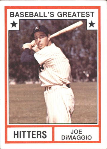 Photo of 1982 TCMA Greatest Hitters #3 Joe DiMaggio