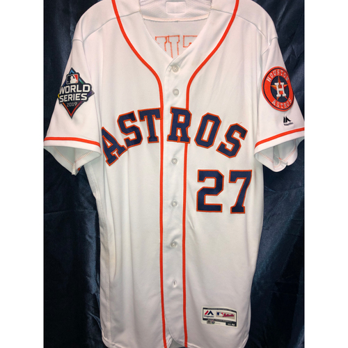 Photo of Jose Altuve Game-Used 2019 World Series Game 6 Jersey (Size 42)