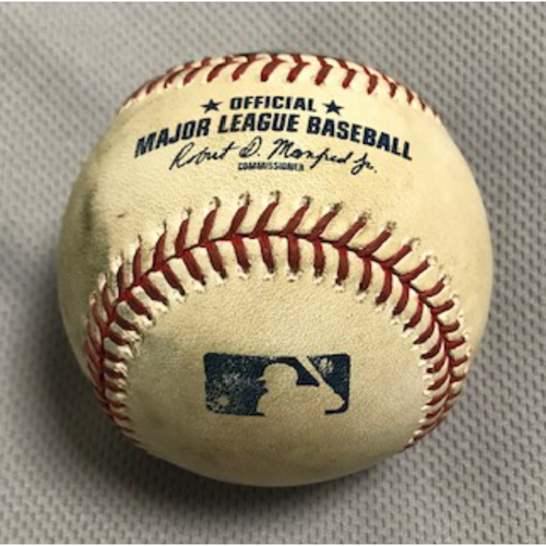 Photo of 9/8/20 Game-Used Baseball, Dodgers at D-backs: Top of the 10th, Yoan López vs. Cody Bellinger (Fly Out), Max Muncy (Intentional Walk) and Chris Taylor (Reached on Fielder's Choice, A.J. Pollock Scored on Fielding Error by Eduardo Escobar)