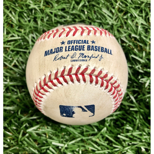 Photo of Rays Baseball Foundation: Game Used Home Run Baseball - Jesus Aguilar - September 4, 2020 v MIA