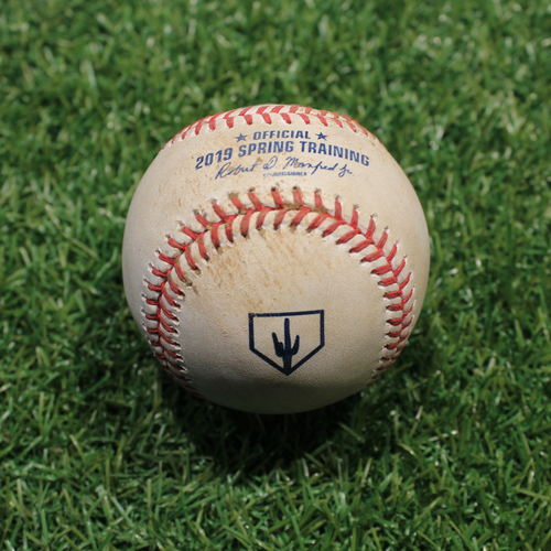 Game-Used Baseball: Terrero - Pitch in Dirt (KC @ OMA 3/25/19)