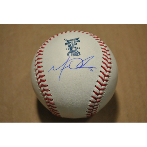 Photo of MLB Players Youth Development Foundation: 2021 T-Mobile Home Run Derby Used & Autographed Baseball - Matt Olson, Round 1 Out