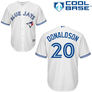 Toronto Blue Jays Youth Cool Base Replica Josh Donaldson Home Jersey by Majestic