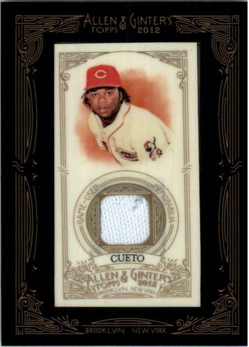 Photo of 2012 Topps Allen and Ginter Relics #JC Johnny Cueto