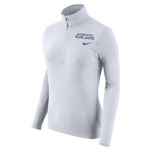 Toronto Blue Jays Women's Dri Fit Element 1/2 Zip Long Sleeve Shirt by Nike
