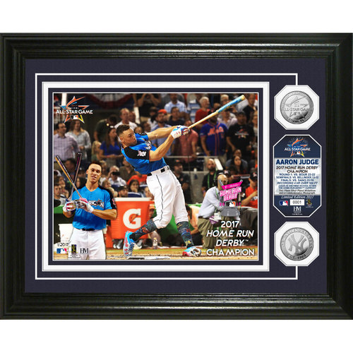 Photo of Aaron Judge 2017 Home Run Derby Champion Silver Coin Photo Mint