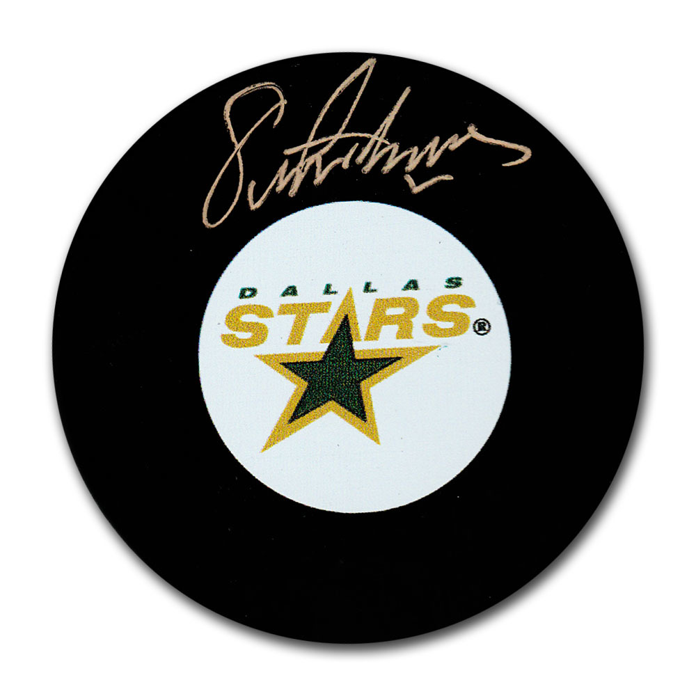 Eric Lindros Autographed Dallas Stars Puck