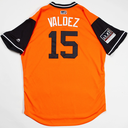 "Photo of Martin ""Valdez"" Maldonado Houston Astros Game-Used 2018 Players' Weekend Jersey"