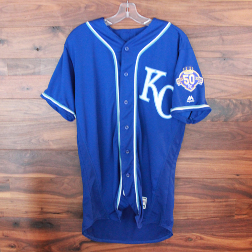 Photo of Game-Used Jersey: Adalberto Mondesi 10th Career Homerun (Size 44 - KC @ MIN - 9/9/18)