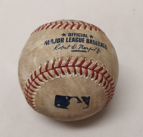 Photo of Authenticated Game Used Baseball - Pablo Sandoval Single against Marco Estrada (April 20, 2017 vs BOS). Top 5.