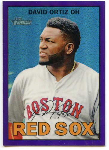 Photo of 2016 Topps Heritage Chrome Purple Refractors #THC438 David Ortiz