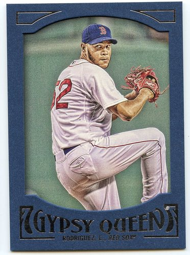 Photo of 2016 Topps Gypsy Queen Framed Blue #58 Eduardo Rodriguez
